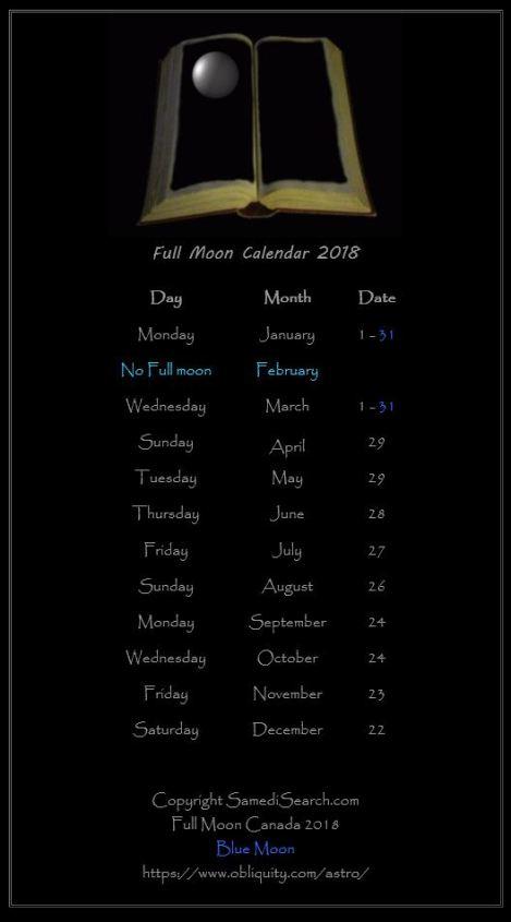 Capture 5 Calendar 2018