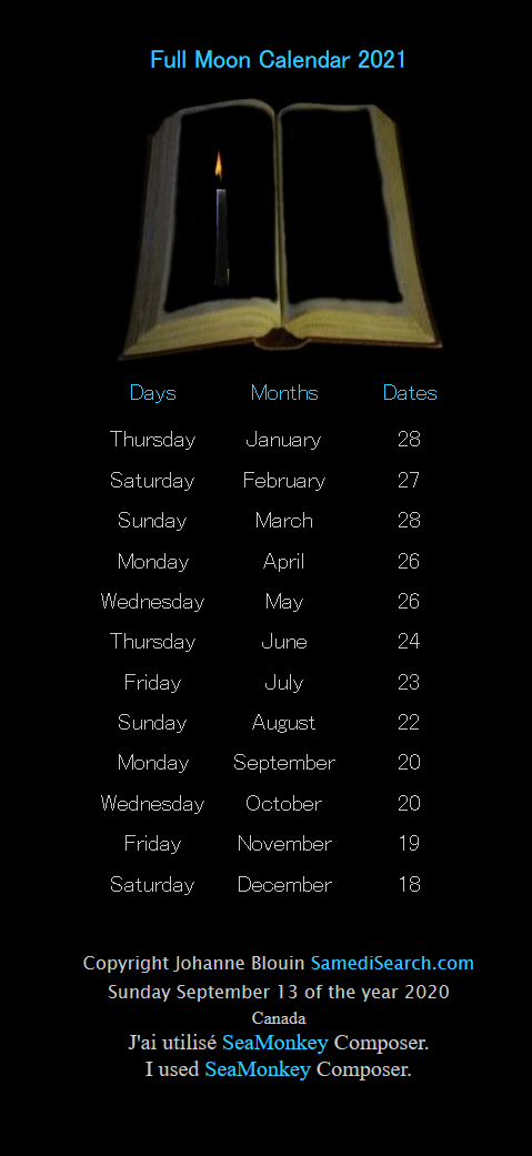 Full Moon 2021 Calendar Full Moon – SamediSearch to inform, learn and have fun